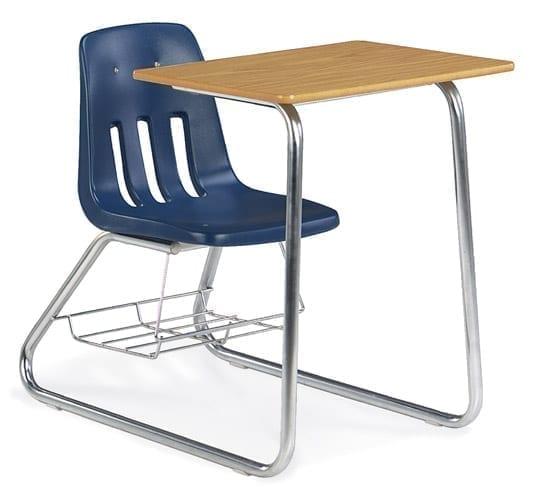 Virco Soft Plastic Sled Based Student Chair Desk Combo