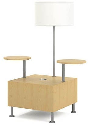 Shown with optional tablet arms and lamp