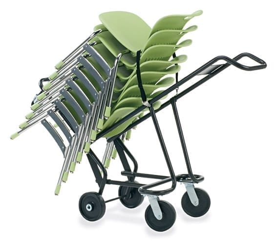 virco deluxe 4 wheel chair truck for virco stack chairs school and
