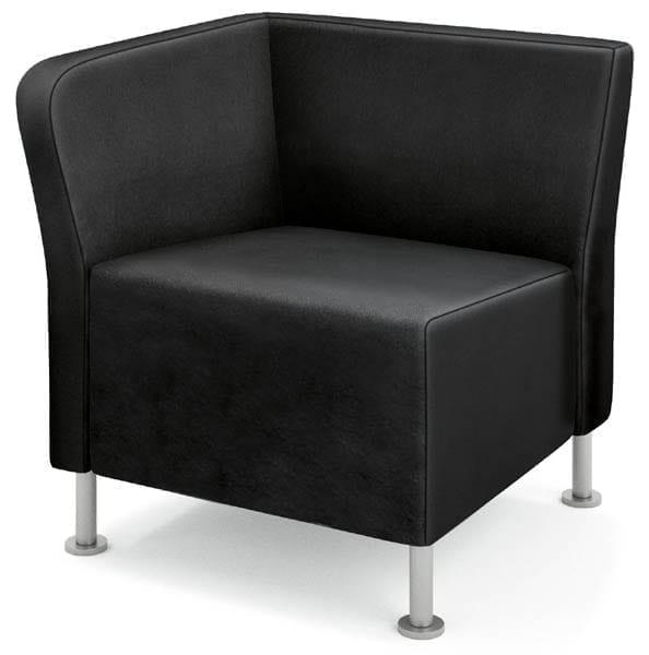 Right End Chair - Shown in Black Whisper Vinyl