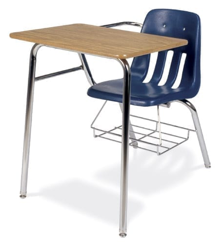 virco soft plastic student chair desk combo with bookrack school rh schoolandofficedirect com used student desk/chair combo bed desk chair combo