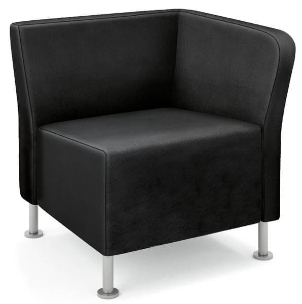 Left End Chair - Shown in Black Whisper Vinyl