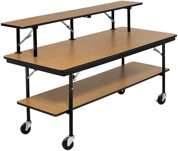 AmTab Mobile Buffet Bar Table School And Office Direct - Office buffet table