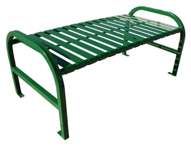 "48""W Backless bench with straight arms"