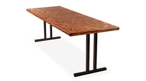 Bon Southern Aluminum Alulite Swirl Top Banquet Tables