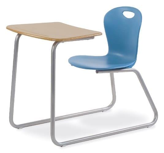 Virco Zuma Sled Based Hard Plastic Combo Chair Desk School And