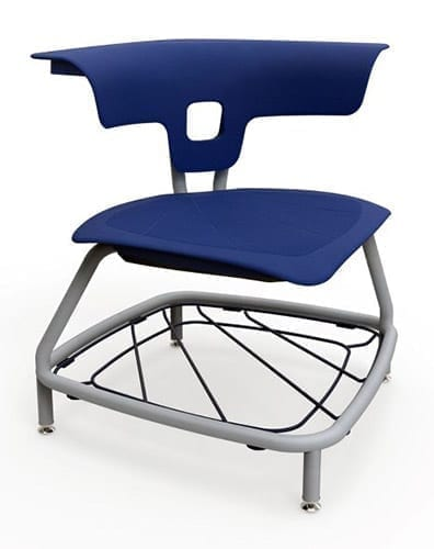 Stack Chair with Glides and Bookrack