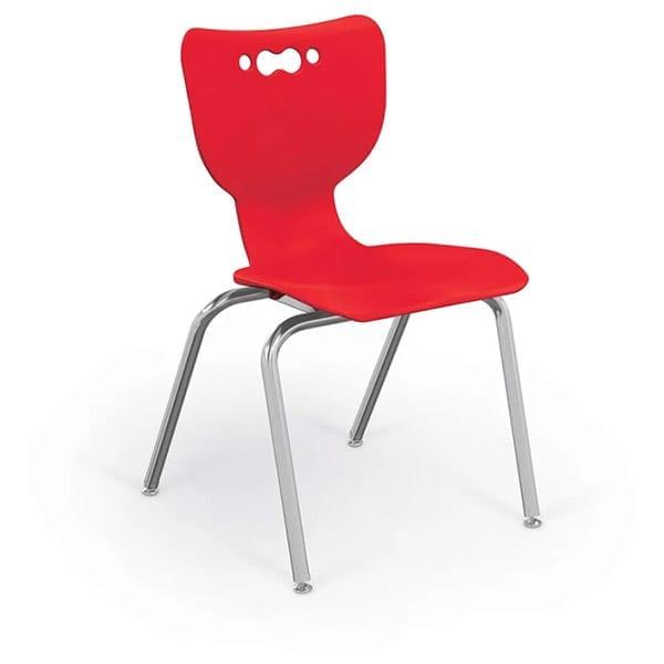 4 Leg Chair-Red